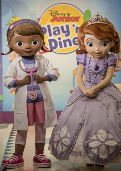 Doc McStuffins and Sofia the First - Photo by Kent Phillips/Disney
