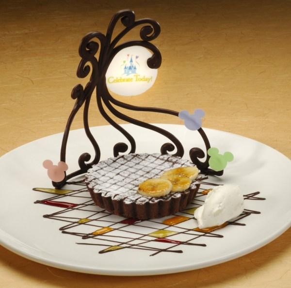 Warm Banana-Chocolate Torte with Vanilla Ice Cream - Photo by Disney