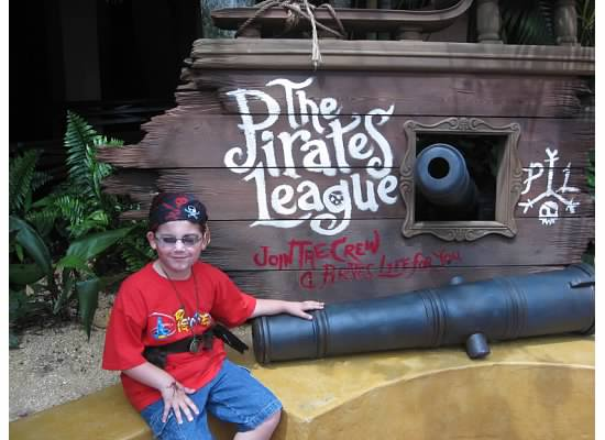 This Pirate is ready to take on Captain Jack! Photo by Mary Spina