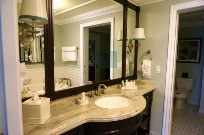 Bathroom with TV Mirror - Image by Mary Spina