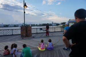Boardwalk street performer