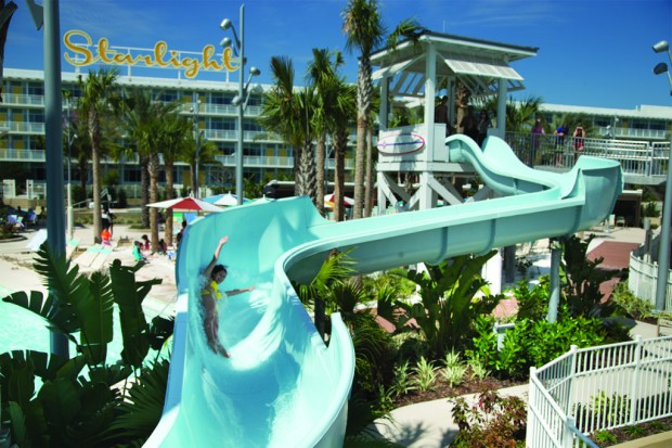 Pool slide - Photo by Loews
