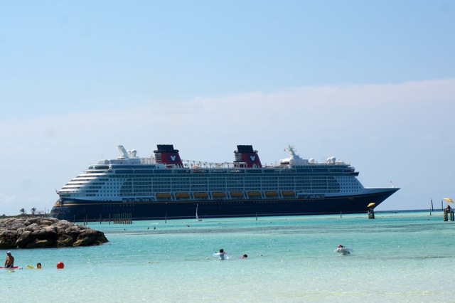Disney Fantasy docked at Castway Cay
