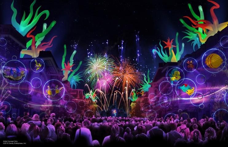 """Artist Rendering """"Disneyland Forever"""" Fireworks"""
