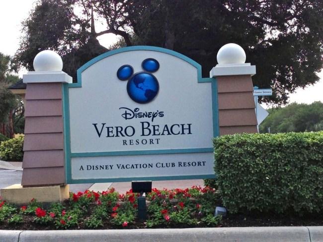 Disney's Vero Beach Resort Entrance.