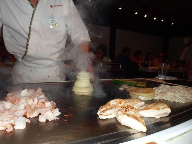 The volcano onion at Teppan Edo