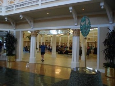View of the registration area