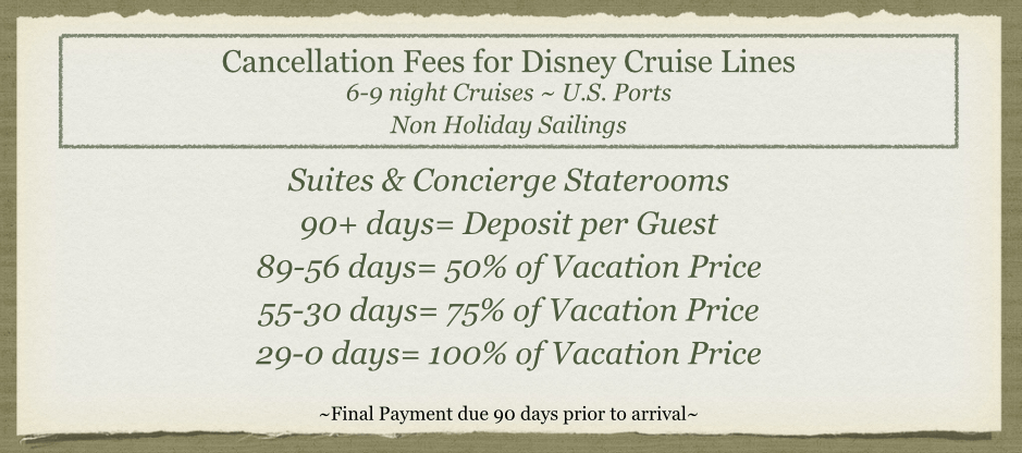 DCL 6-9 Non-Holiday Suites