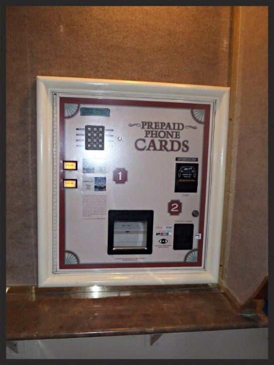 Phone card machine located in main lobby - Photo by Lisa McBride