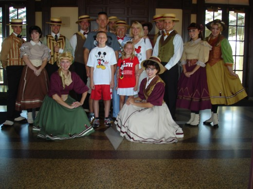 The Main Street dancers and Mayor Weaver