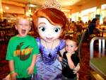 Sofia the first with 2 little boys.
