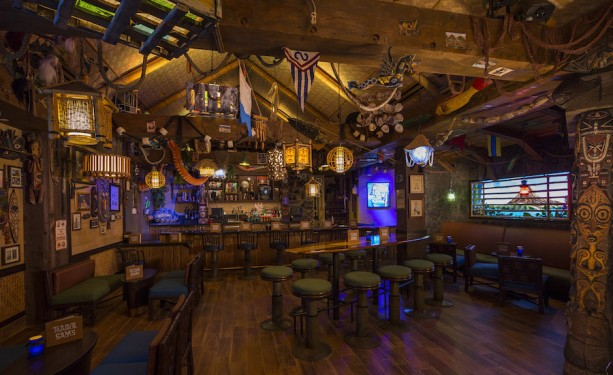 South Seas interior of Trader Sam's Grog Grotto at the Polynesian Village Resort