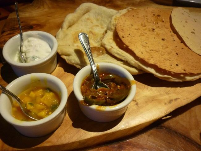 Photo by Danielle Meyer, Sanaa, naan bread and sauces
