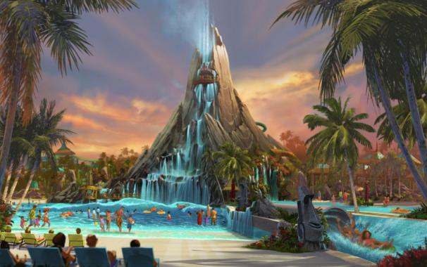 Artist rendering of Volcano Bay, courtesy of Universal Orlando Resort