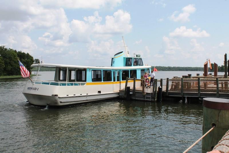 Ferry Boat at docked at Wilderness Lodge Resort