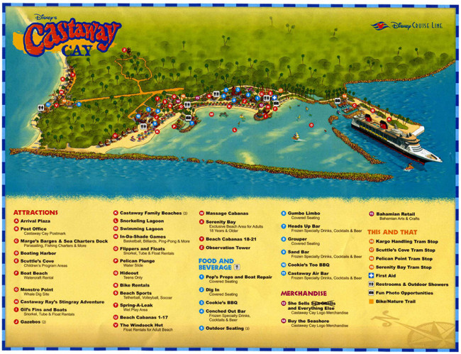 Map of Disney's Castaway Cay