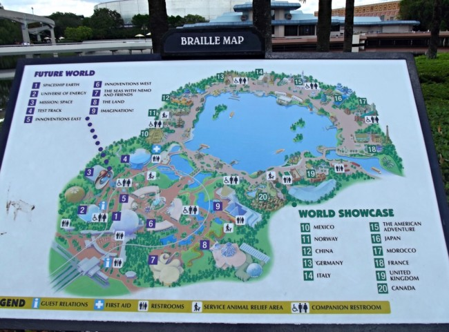 Braille Map at Epcot-Picture by Lisa McBride