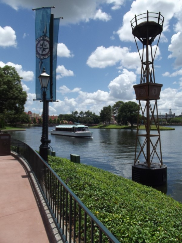 Boat transportation at Epcot-Picture by Lisa McBride