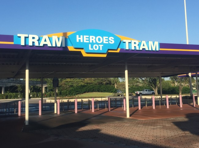 Boarding area for Heroes Lot at Magic Kingdom