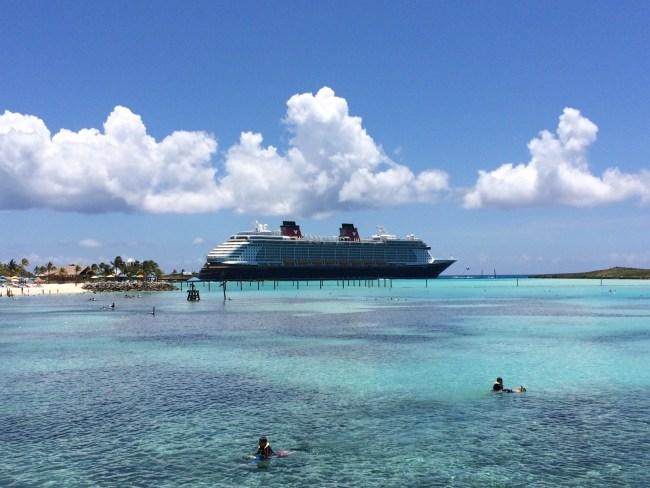 The Disney Fantasy in Castaway Cay
