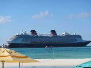 Disney Dream docked at Castaway Cay