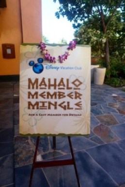 Mahalo Member Mingle sign