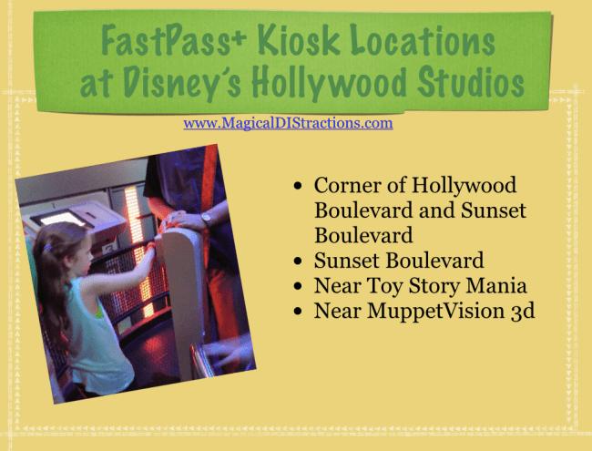 Fastpass+ Hollywood Studios kiosk locations