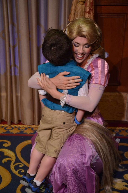 Rapunzel was so excited to a tiny Flynn Rider/Eugene Fitzherbert.
