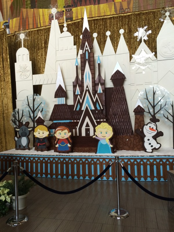Frozen gingerbread display at Disney's Contemporary Resort