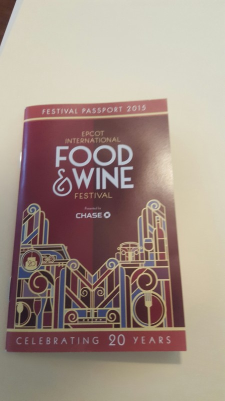 The Festival Passport Book for the Epcot International Food and Wine Festival 2015