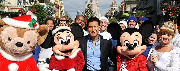 mario lopez hosting the annual disney christmas special