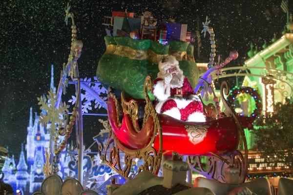 Santa at Mickey's Once Upon A Christmas Parade-Photo credit Disney Parks Blog