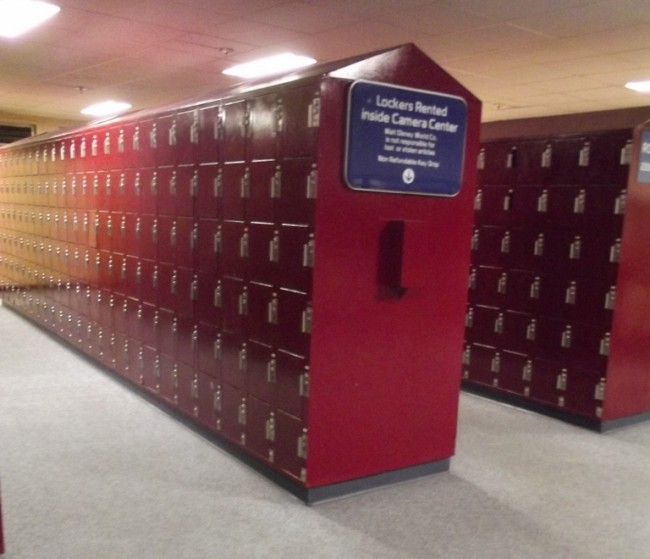 Lockers at Epcot-Picture by Lisa McBride