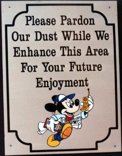 WDW Construction Sign