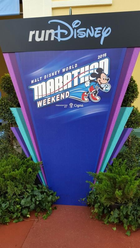 Walt Disney World Marathon 2016 Sign