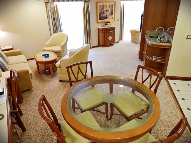 Emerald Princess Dining and Living Room