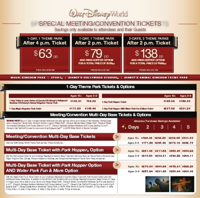 Mixing Business with Pleasure: Discounted Tickets for Orlando