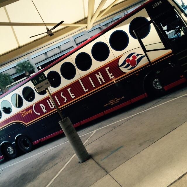 Disney Cruise Line transfer motor coach courtesy of Lori Ketcherside