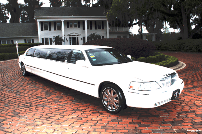 White Stretch Limousine from Southern Elegance