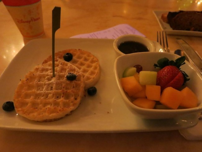 Waffles from the allergy menu at Be Our Guest -Photo Credit Ariana Thwaite Freimuth