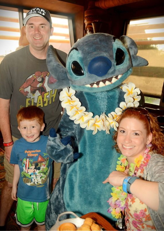 Family PhotoPass pic with Stitch