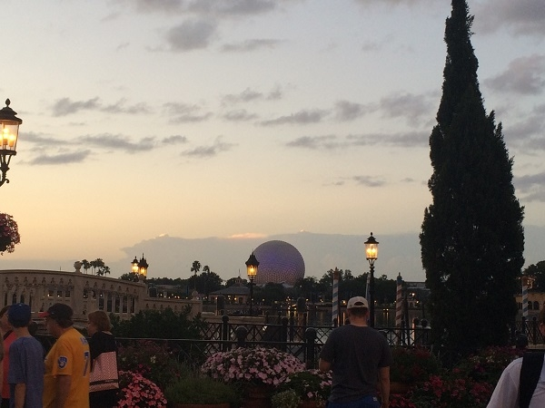 Beautiful evening weather at Epcot