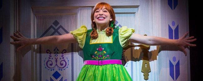 Anna from the Frozen Stage Show at Disney California Adventure