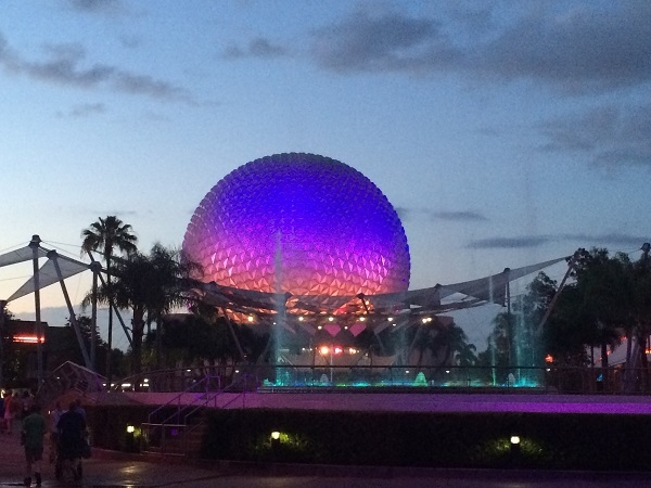 View of Epcot's Fountain of Nations