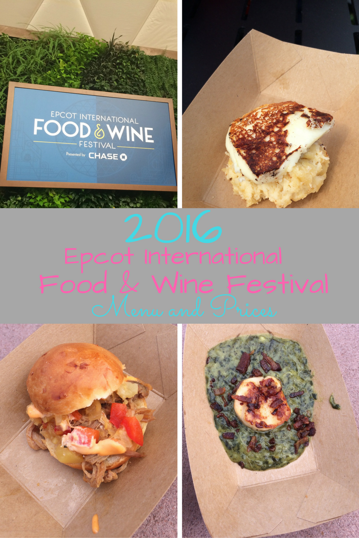 Epcot Food And Wine Festival Menu Prices