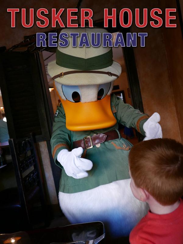 Tusker House Restaurant boy meets Donald Duck