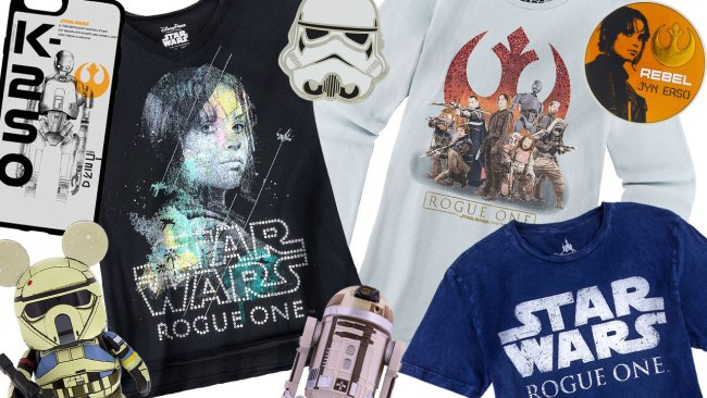 """Sampling of New """"Rogue One: A Star Wars Story"""" Merchandise. Photo by Disney Parks Blog"""