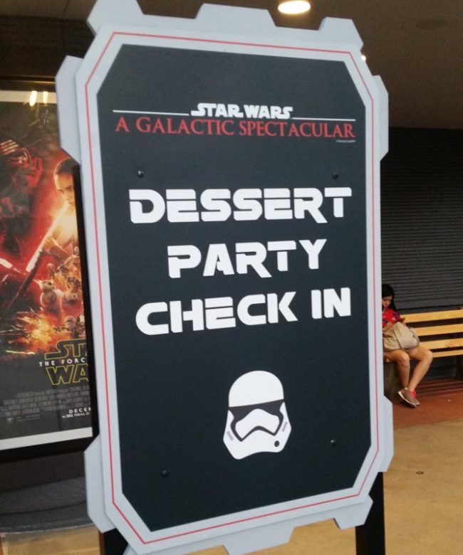 Star Wars Dessert Party Check In