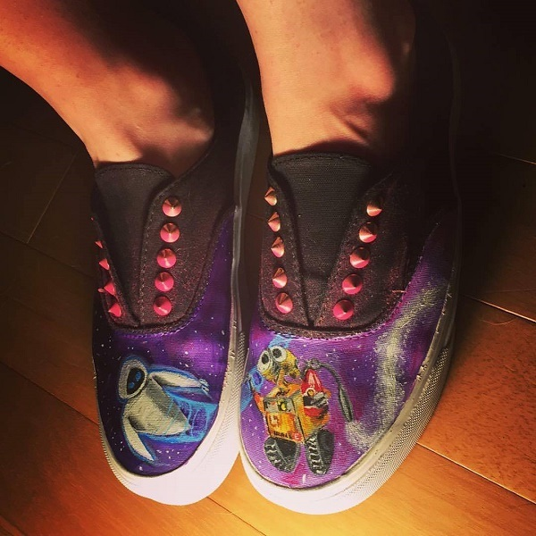 Hand painted Wall-E shoes by Megan Welch
