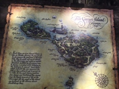 Tom Sawyer Island Explorer Map